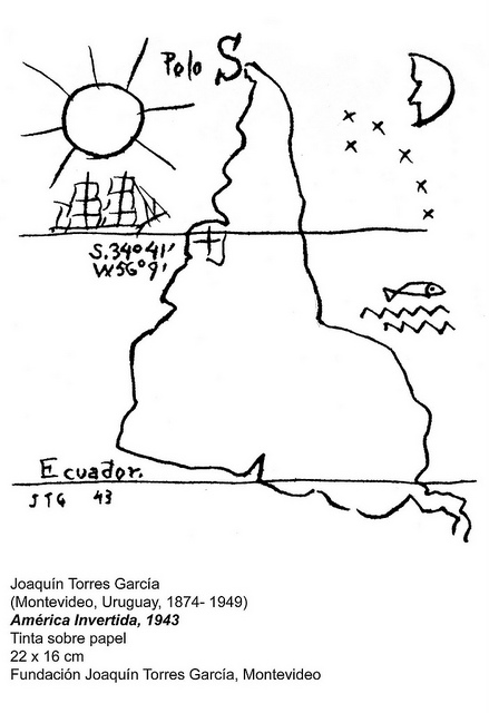 Joaquín Torres García, Inverted Map of South America (1943)